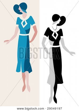 old dress style