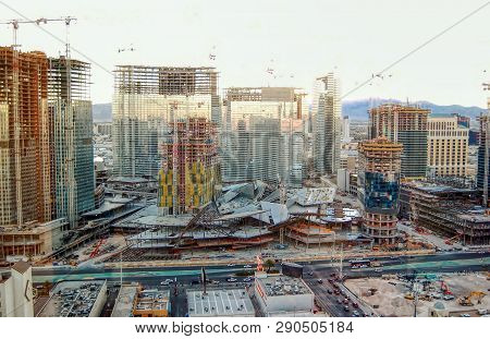 Las Vegas, Nv., Usa, - Circa October 2008 -  Construction Of The Newly Developed City Center On The