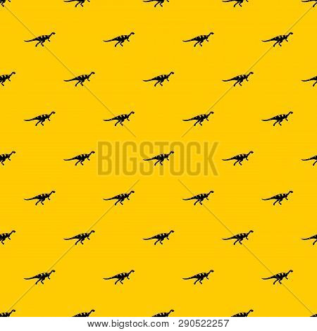Gallimimus Dinosaur Pattern Seamless Vector Repeat Geometric Yellow For Any Design