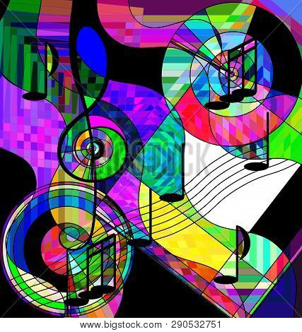 Abstract Color Image Of The Musical Chaos