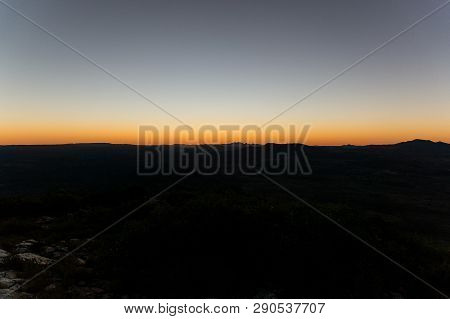 Sunset From The The Top Of Mount Sonder Just Outside Of Alice Springs, West Macdonnel National Park,