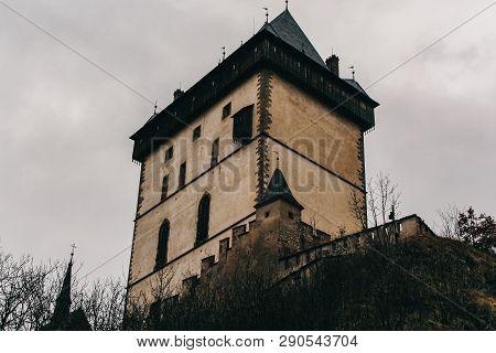 Royal Castle Karlstejn In In Central Bohemia, Czech Republic, Bohemia