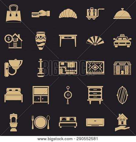 Tourist House Icons Set. Simple Set Of 25 Tourist House Vector Icons For Web For Any Design