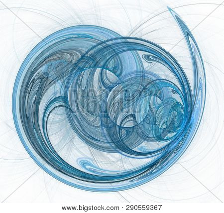 An Abstract Computer Generated Modern Fractal Design. Abstract Fractal Color Texture. Digital Art. A