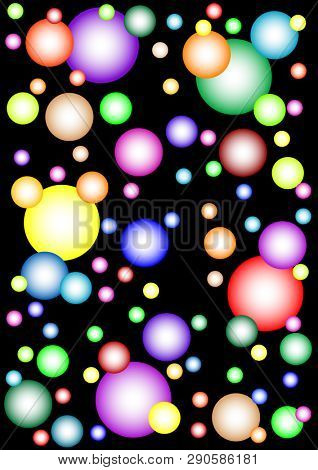 Abstract background of multicolored lines and spots