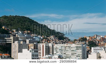 Cantagalo Favela Above Ipanema, Rio De Janeiro, Pictured Below. This Shanty Town Used To Be A Prime