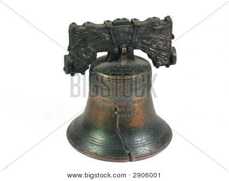 Liberty Bell Philadelphia isolado no branco