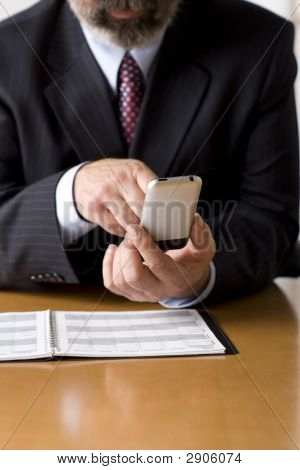 Business Person Checking Their Schedule.