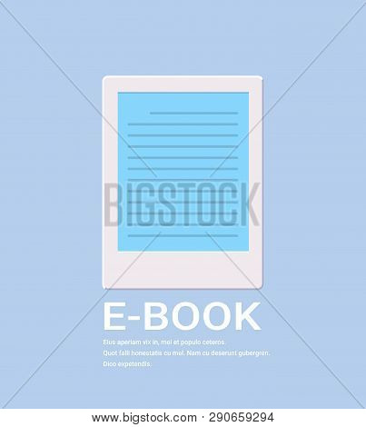 Electronic Book Icon Digital Reading Ebook Concept Internet Learning E-book Library Online Informati