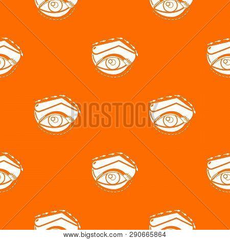 Eyelid Elevation Pattern Vector Orange For Any Web Design Best