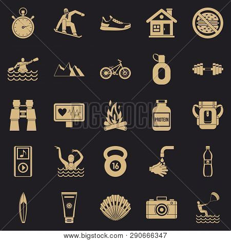 Therapeutic Therapy Icons Set. Simple Set Of 25 Therapeutic Therapy Vector Icons For Web For Any Des