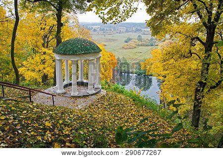 Hlibov's Romantic Arbor In  Old Manor In Sedniv.