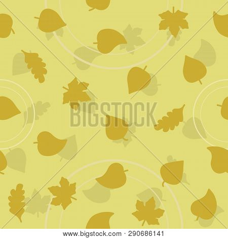 Vector Leaf Pattern For Natural Product Store, Garden, Nature Cosmetics, Ecology Company, Naturally