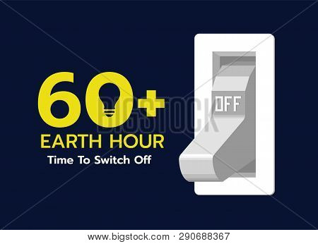 Earth Hour Time To Switch Off - Light Switch In Off Position Vector Design