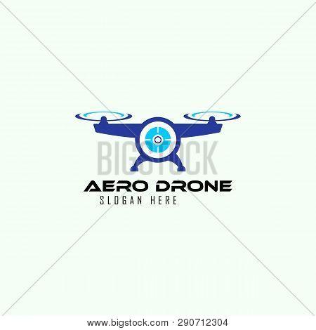 Aero Drone Logo Design Template, Vector, Icon