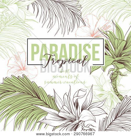 Tropical Hand Drawn Vector Photo Free Trial Bigstock Download, print or send online! tropical hand drawn vector photo