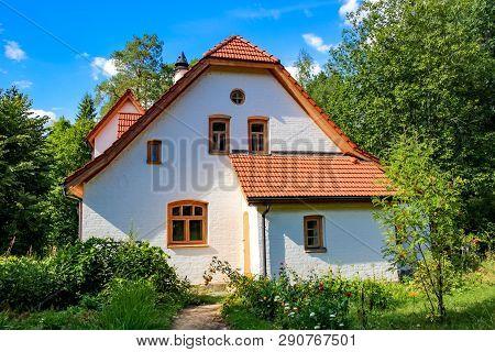 Polenovo, Tula Region, Russia - August 2014: Abbey (abbatstvo) - Workshop V.d. Polenov. Manor