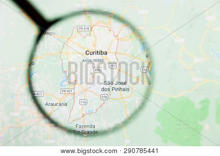 Los Angeles, California, Usa - 15 March 2019: Curitiba, Brazil City Visualization Illustrative Conce