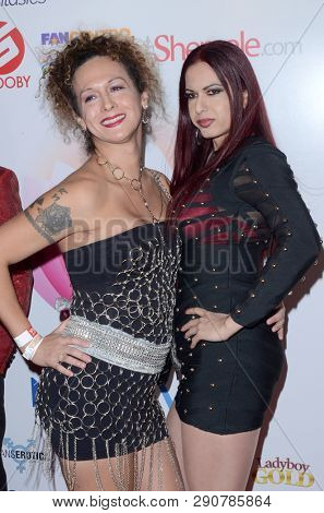 LOS ANGELES - MAR 17:  Nikki Montero, Tatiana Summer at the 2019 Transgender Erotica Awards TEA Show at the Avalon Hollywood on March 17, 2019 in Los Angeles, CA