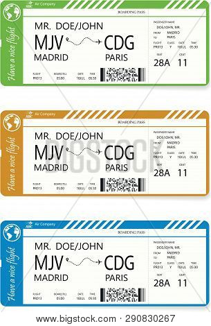 Vector Pattern Of A Boarding Pass Ticket. Concept Of Trip Or Travel. Boarding Pass Required For Boar