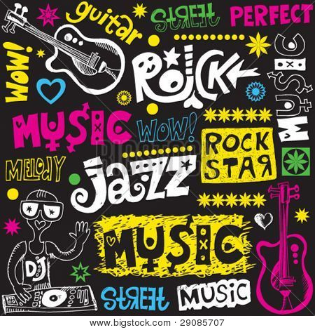 funny music doodles