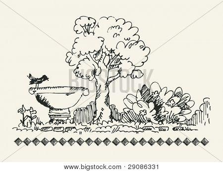 sketchy garden