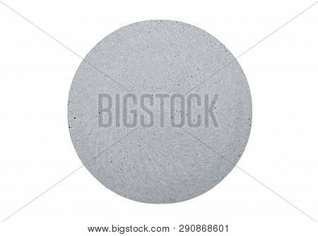 Top View Of Concrete Coaster Isolated On White Background