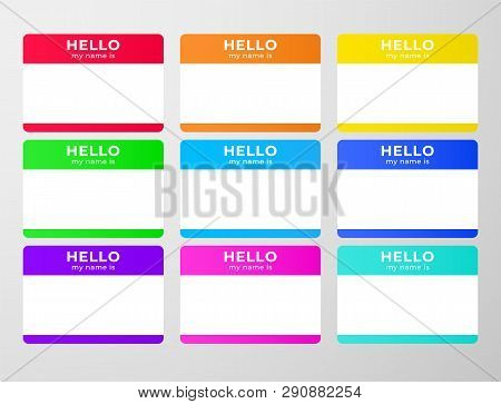 Nametag Stickers Set. Blind And Speed Dating Tag