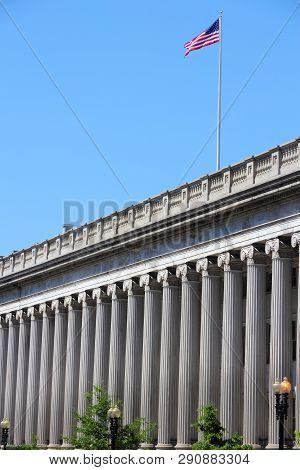 Us Department Of The Treasury. Washington Dc, Capital City Of The United States.