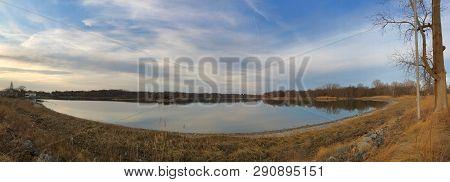 Panoramic View Of Edith G Read Wildlife Sanctuary In Rye, New York