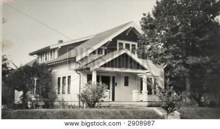 Vintage Photo 1910 House