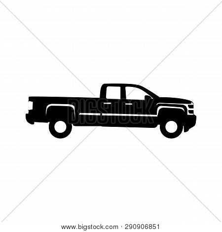Truck Pick Up Vector Silhouette. Truck Logo Icon