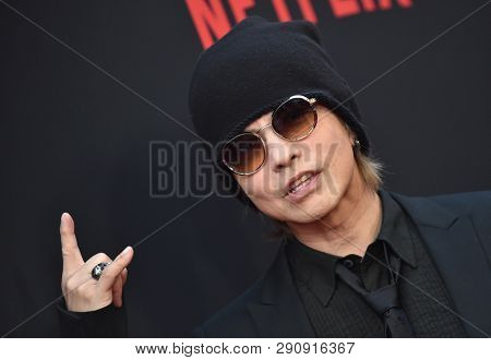 LOS ANGELES - MAR 18:  Hyde arrives for the Netflix 'The Dirt' Premiere on March 18, 2019 in Hollywood, CA