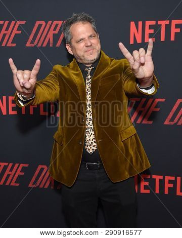 LOS ANGELES - MAR 18:  Jeff Tremaine arrives for the Netflix 'The Dirt' Premiere on March 18, 2019 in Hollywood, CA