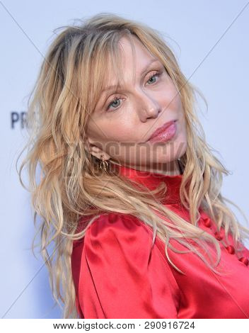 LOS ANGELES - MAR 17:  Courtney Love arrives for the The Daily Front Row 5th Annual Fashion LA Awards on March 17, 2019 in Beverly Hills, CA