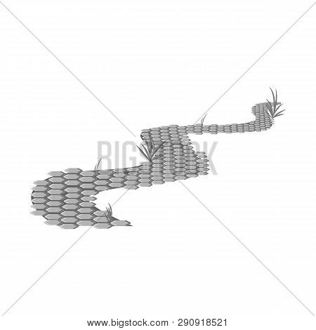 Isolated Object Of Road And Scenery Icon. Set Of Road And Footpath Stock Vector Illustration.