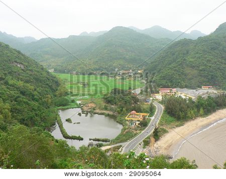 Countryside in Vietnam.