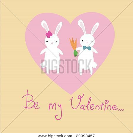 Cute bunnies card