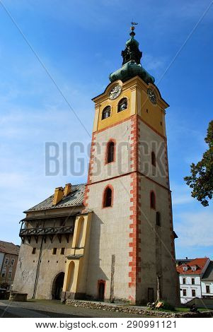 Banska Bystrica, Slovakia - September 14,2018: The Old Castle In The Historical Center In Banska Bys