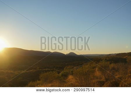 Sunset View From The The Top Of Mount Sonder Just Outside Of Alice Springs, West Macdonnel National