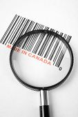 Made in Canada and barcode business concept poster