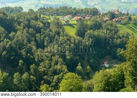 The Village Of Flüeli-ranft  On The Swiss Alps