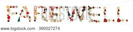 Colorful Christmas Decoration Letter Building Word Farewell