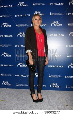LOS ANGELES - NOV 11:  Leila Hurst arrives at the Life Rolls On Foundation's 9th Annual Night By The Ocean at The Ritz-Carlton on November 11, 2012 in Marina del Rey, CA