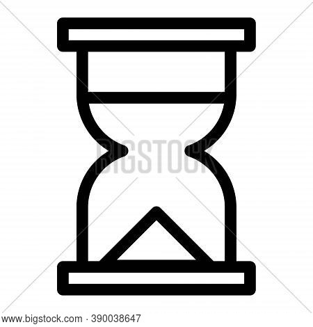 Hourglass Icon. Sand Clock, Sandglass Timer, Vintage And Historical Illustration Of Time, Countdown.
