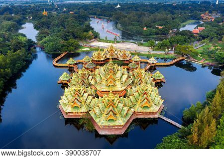 Pavilion Of The Enlightened, Ancient City In Samut Prakan Province, Thailand.