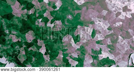 Camo Texture Background. Watercolor Camouflage Uniform. Grey Combat Pattern. Abstract Commando Shirt