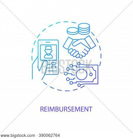 Reimbursement Concept Icon. Telemedicine Challenges. Future Healthcare Payment Options. Remote Medic