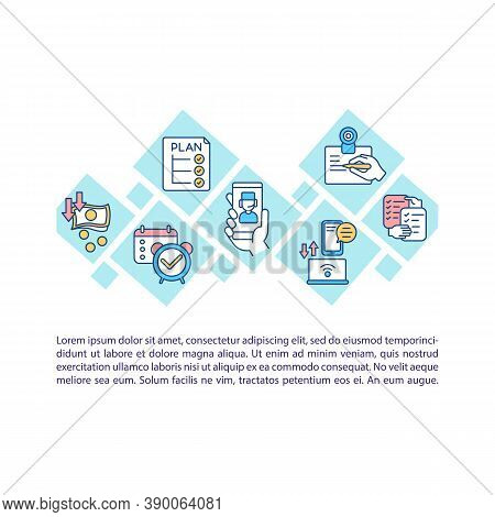 Telehealth Concept Icon With Text. Health-related Services. Telecommunication Technologies. Ppt Page