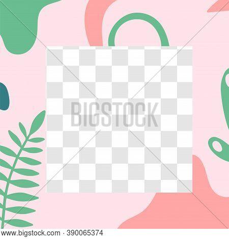 Floral Post. Garden Flora Social Media Post Template. Color Garden Spring Pattern, Story Media Socia